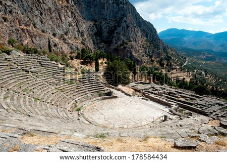 Ancient site of Delphi, Greece - stock photo