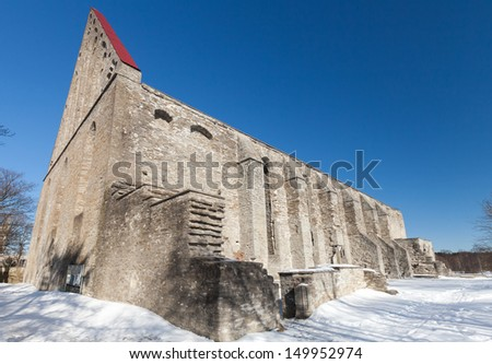 Ancient St. Brigitta convent in Pirita region, Tallinn, Estonia - stock photo