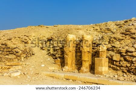 Ancient statues at Saqqara - Egypt - stock photo