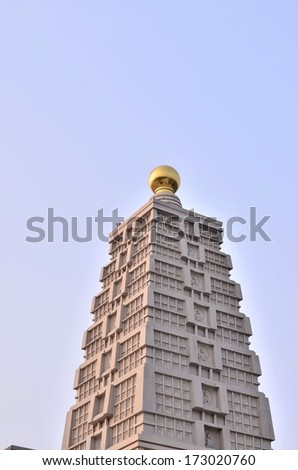 Ancient style Chinese building - stock photo