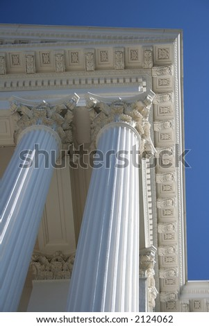 ancient style column of marble background - stock photo
