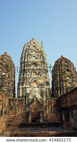 ancient sukhothai historical park in northern thailand