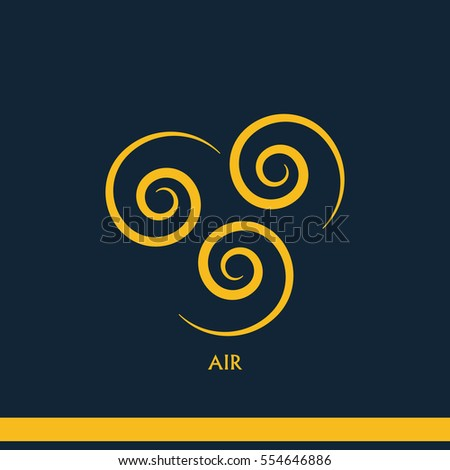Ancient Symbol Air Element Subscribe Stock Illustration 554646886