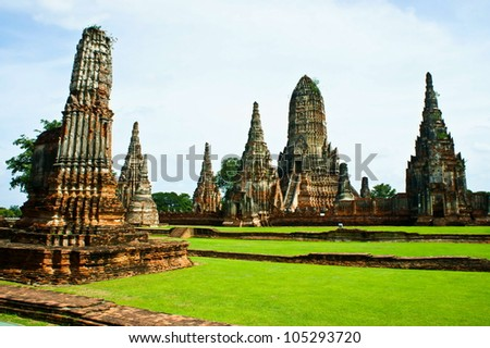 Ancient temple and monument in Thailand - stock photo