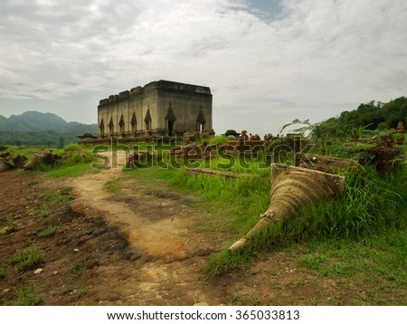 Ancient temple in countryside of Thailand