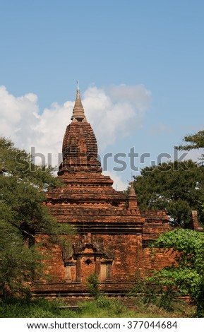 Ancient temple in old Bagan, Myanmar - stock photo