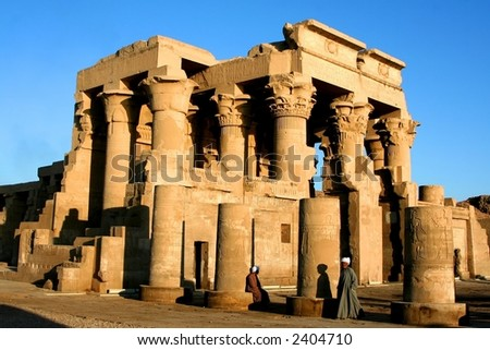 ancient temple of philae - stock photo