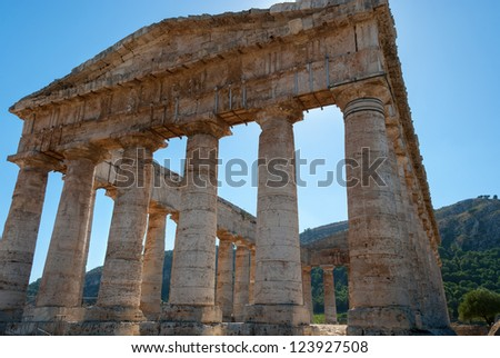 ancient temple of Segesta in Sicily