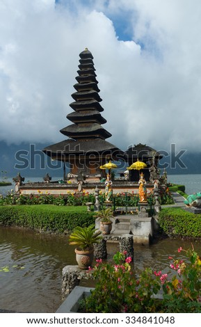 Ancient temple on coast of Bali - stock photo