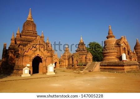 Ancient temples in Bagan, Myanmar - stock photo