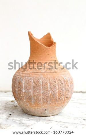 Ancient terracotta vases - stock photo
