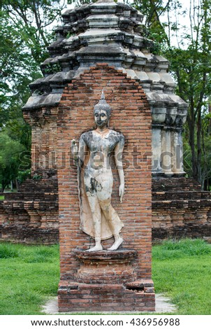 ancient thai temple ruin