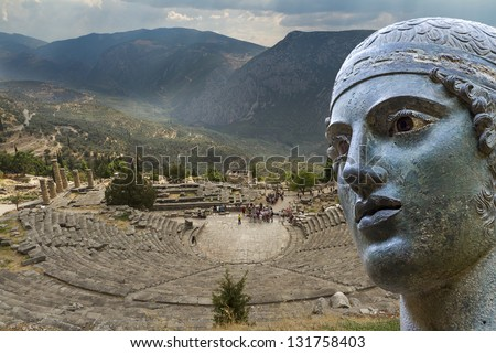 Ancient Theater in Delphi Greece