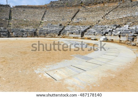 Ancient theatre at Filipi, Kavala, Greece