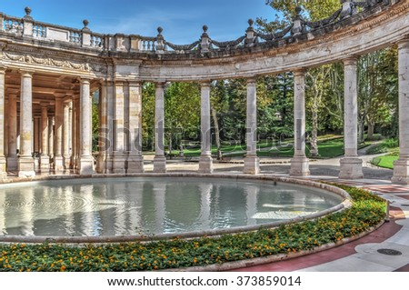 ancient thermal baths in Montecatini Terme, Tuscany - stock photo