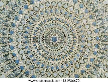 Ancient tile pattern on ceramic - stock photo