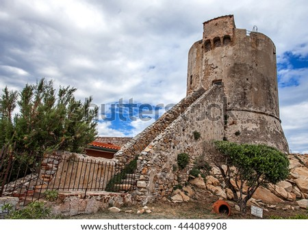 Ancient tower in Elba island, Italy