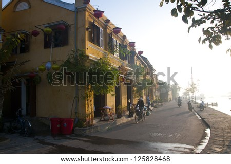 Ancient town Hoi An in Vietnam - stock photo