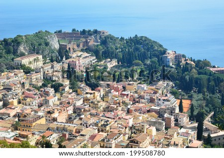 Ancient town Taormina has been a very popular tourist destination on the east Sicilian coast.