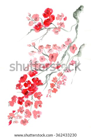Ancient Traditional Artistic plum blossom