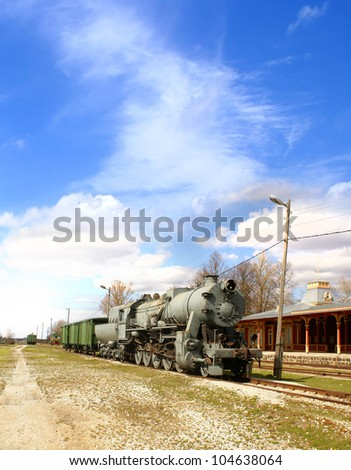 Ancient trains - stock photo