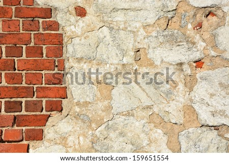 Ancient wall- high resolution background - stock photo