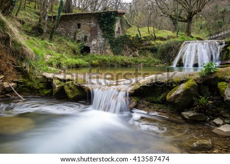 Ancient water mill of Belandia, Vizcaya (Spain) - stock photo