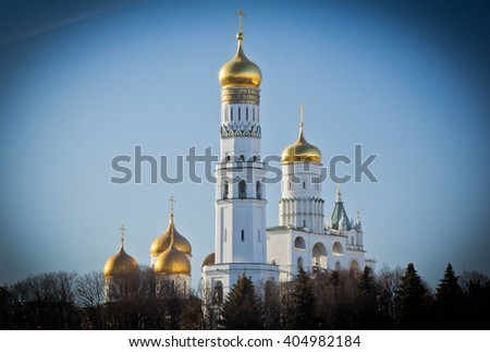 ancient white stone Cathedral in spring day