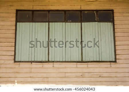 Ancient window, Wooden window.