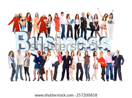And Any Words You Add With a word Business  - stock photo