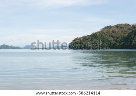 andaman ocean, seascape view from koh lidee in satun, thailand