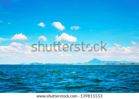 Andaman Sea, Thailand, landscape at sunny day