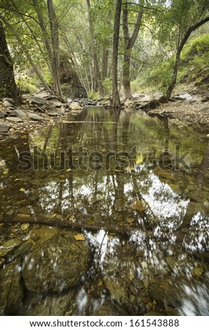 Andarax river , Almeria, Spain, in autumn - stock photo