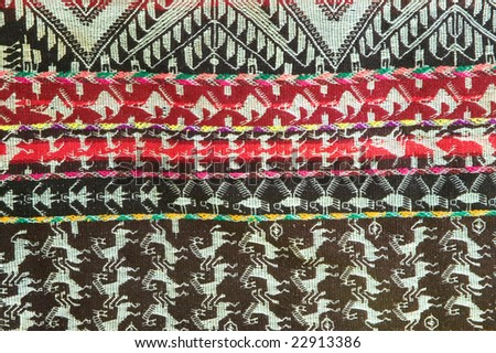 Andean Tapestry from Bolivia - stock photo