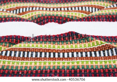 andean tapestry with white strip - background