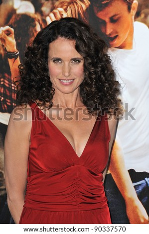 "Andie MacDowell at the Los Angeles premiere of her new movie ""Footloose"" at the Regency Village Theatre, Westwood, CA. October 3, 2011  Los Angeles, CA Picture: Paul Smith / Featureflash"