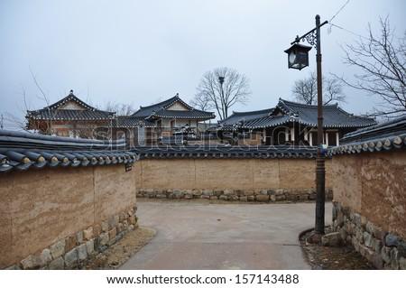 Andong Hahoe Folk village, South Korea - stock photo