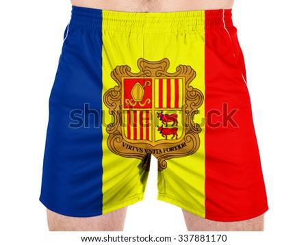 Andorra flag - stock photo