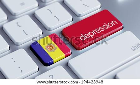 Andorra High Resolution Depression Concept - stock photo