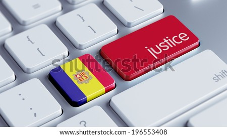 Andorra High Resolution Justice Concept - stock photo