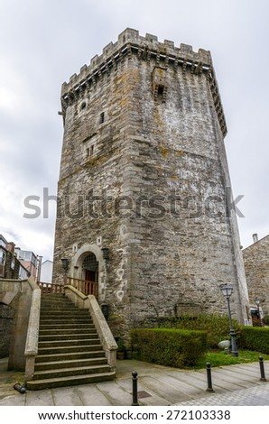 Andrade castle in the town of Vilalba, Lugo Spain - stock photo