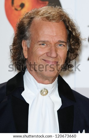 Andre Rieu arriving for the Classic Brit Awards 2012 at the Royal Albert Hall, London. 02/10/2012 Picture by: Steve Vas - stock photo