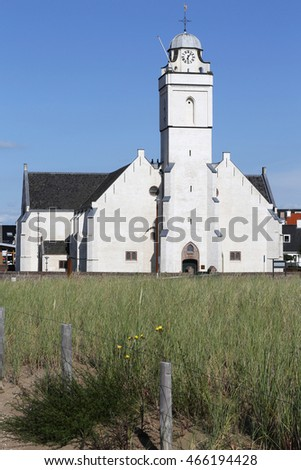 Andreaskerk (St. Andrew's church) at Katwijk aan Zee/ Netherlands, also known as Witte Kerk (white church)