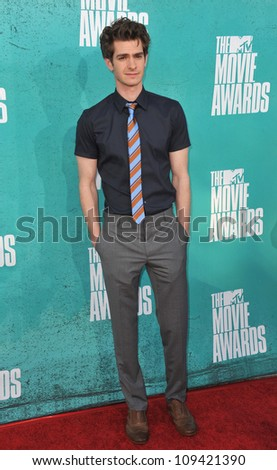 Andrew Garfield at the 2012 MTV Movie Awards at Universal Studios, Hollywood. June 4, 2012  Los Angeles, CA Picture: Paul Smith / Featureflash - stock photo