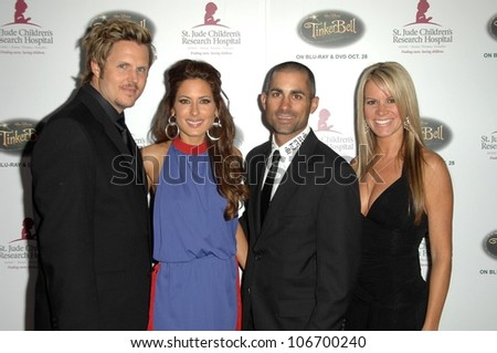 Andrew Grush and Kerri Kasem with Mike Kasem and Amy Godsey  at the 5th Annual Runway For Life Gala Benefitting St. Jude Childrens Hostpital. Beverly Hilton Hotel, Beverly Hills, CA. 10-11-08 - stock photo
