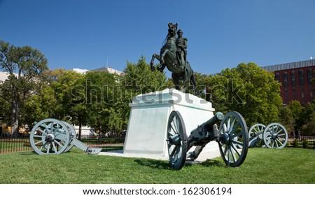 Andrew Jackson in Lafayette Square, Washington D.C. - stock photo