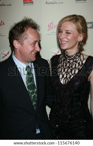 Andrew Upton and Cate Blanchett at the G'Day USA Penfolds Black Tie Icon Gala. Hyatt Regency Century Plaza, Los Angeles, CA. 01-13-07 - stock photo