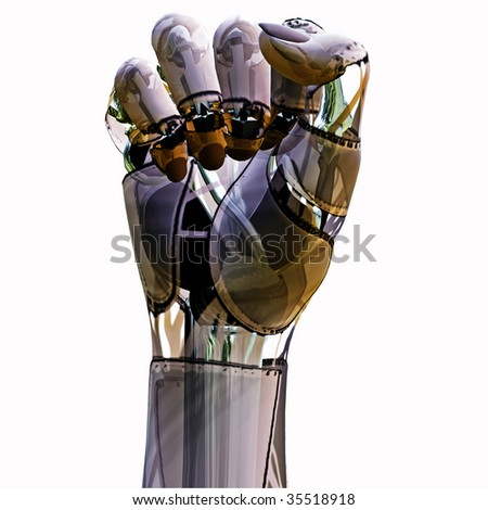 Androd Fist - stock photo