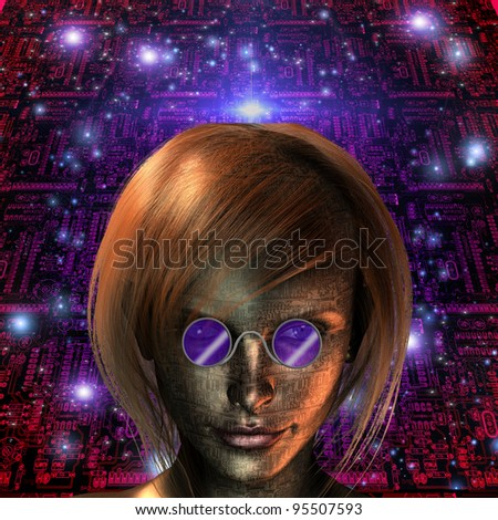 Android Girl - stock photo