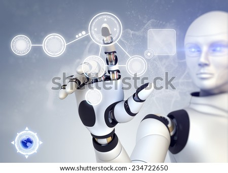 Android is working with touchscreen technology - stock photo